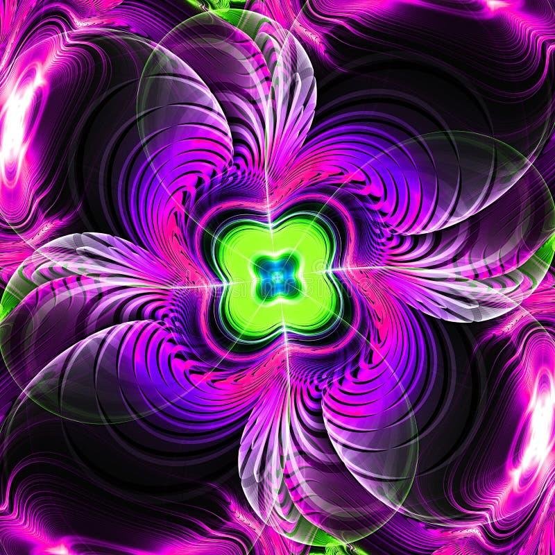 абстрактная фракталь предпосылки Текстура абстрактной картины multicolor Предпосылка праздника движения Современная multicolor фу бесплатная иллюстрация