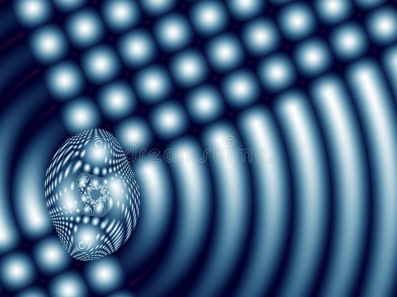 Абстрактная фракталь при сияющие точки и кривые походя варя плита иллюстрация штока