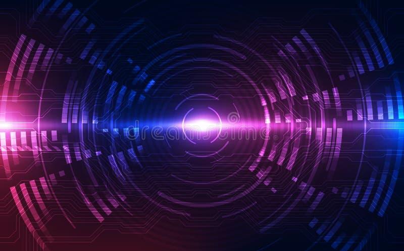 Абстрактная футуристическая предпосылка цифровой технологии вектор иллюстрации иллюстрация вектора