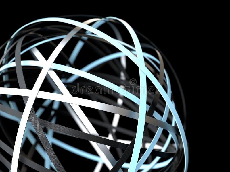 Абстрактная футуристическая сфера колец иллюстрация штока