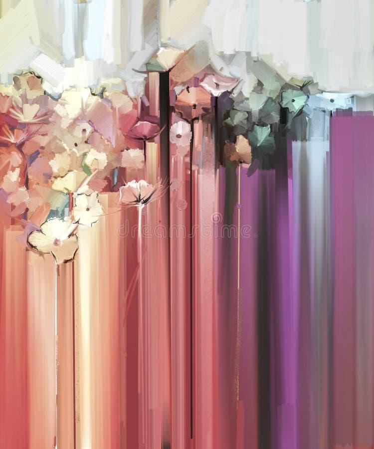 Абстрактная флористическая картина цвета масла