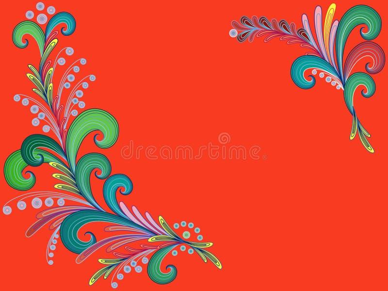 Абстрактная флористическая поздравительная открытка иллюстрация штока