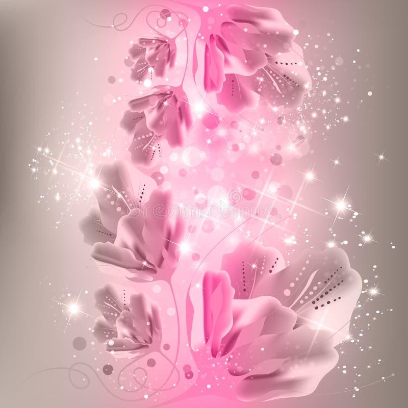 Абстрактная флористическая предпосылка иллюстрация штока