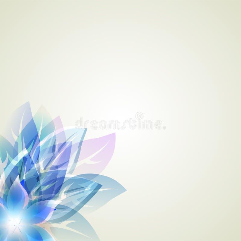 Абстрактная художническая предпосылка с голубое флористическим иллюстрация штока