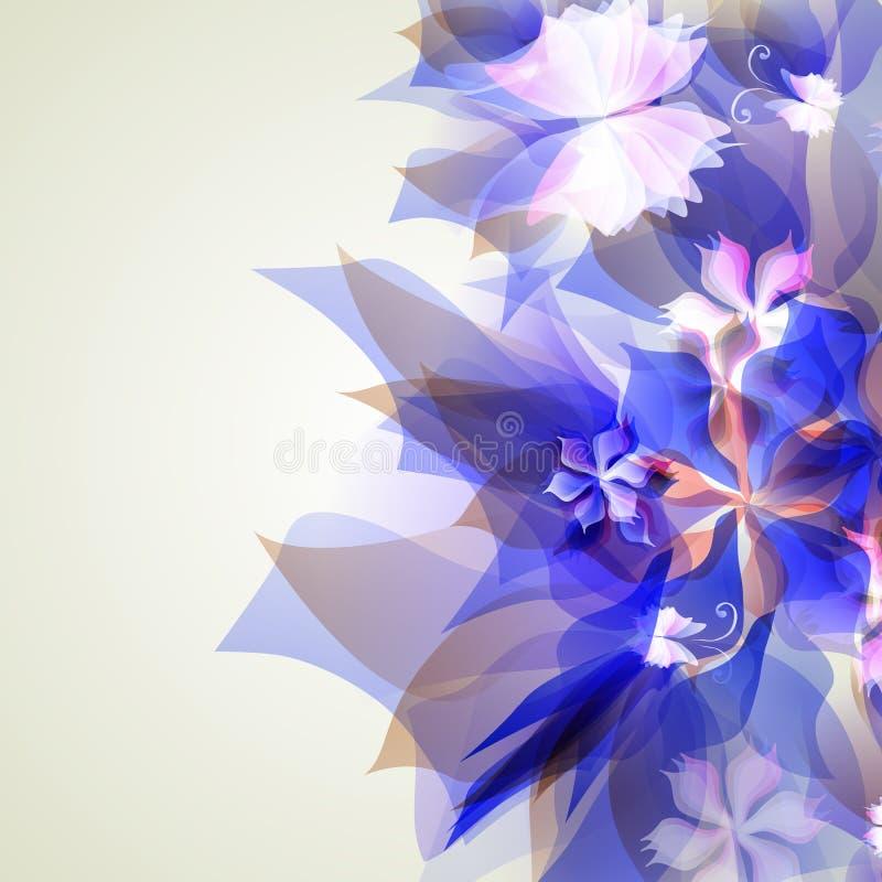 Абстрактная художническая предпосылка с голубое флористическим бесплатная иллюстрация