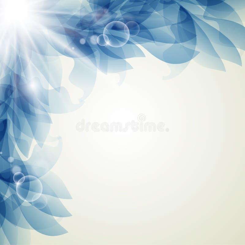 Абстрактная художническая предпосылка с голубым флористическим элементом бесплатная иллюстрация