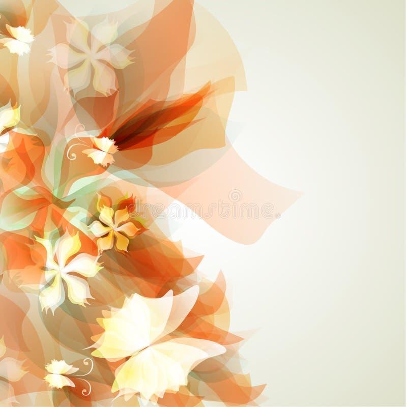 Абстрактная художническая предпосылка с желтое флористическим иллюстрация штока