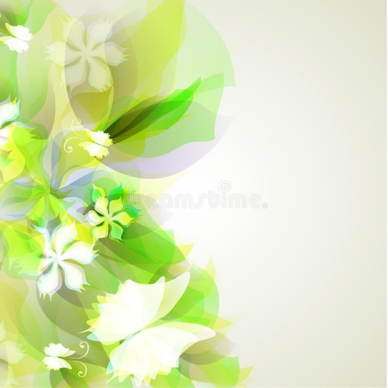 Абстрактная художническая предпосылка с желтым цветом и зеленым цветом иллюстрация вектора