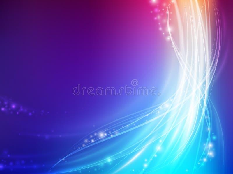абстрактная цветастая волна иллюстрация штока