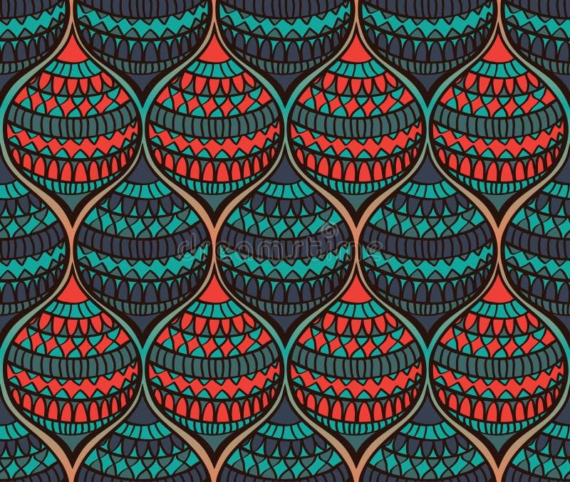 абстрактная цветастая картина иллюстрация вектора