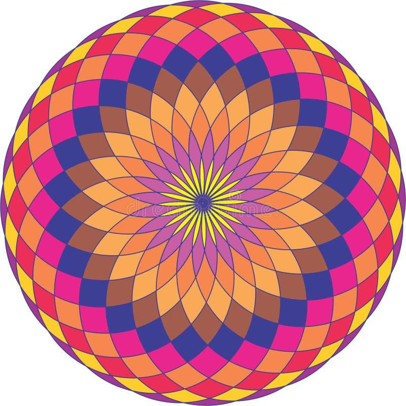 абстрактная цветастая конструкция стоковое изображение rf