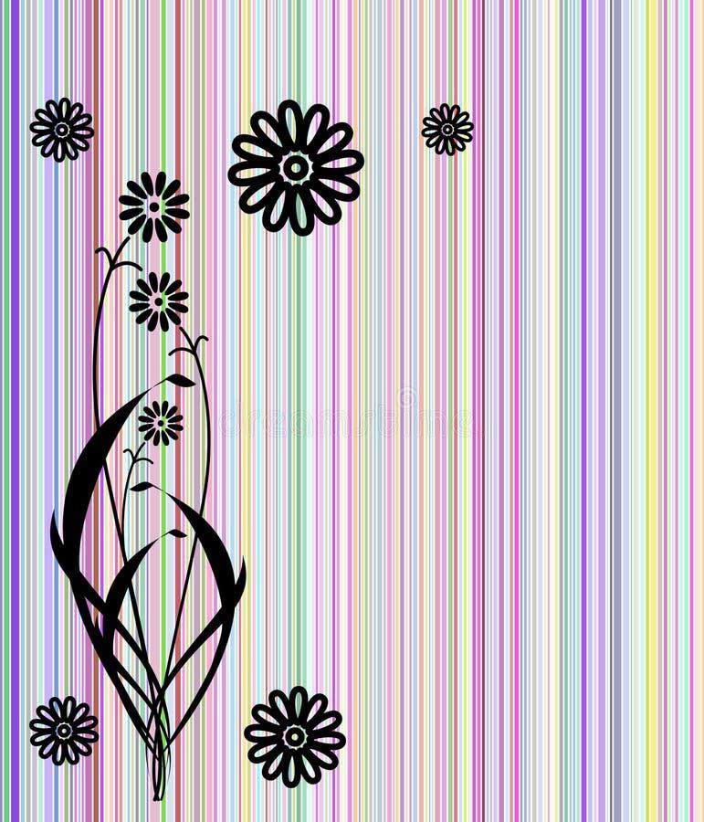 абстрактная цветастая крышка цветет линии иллюстрация штока