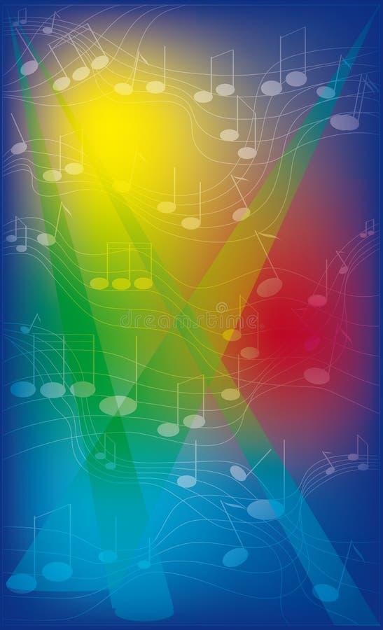 Абстрактная цветастая предпосылка с примечаниями иллюстрация вектора