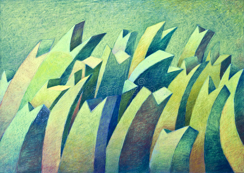 абстрактная цветастая рука чертежа стоковое фото