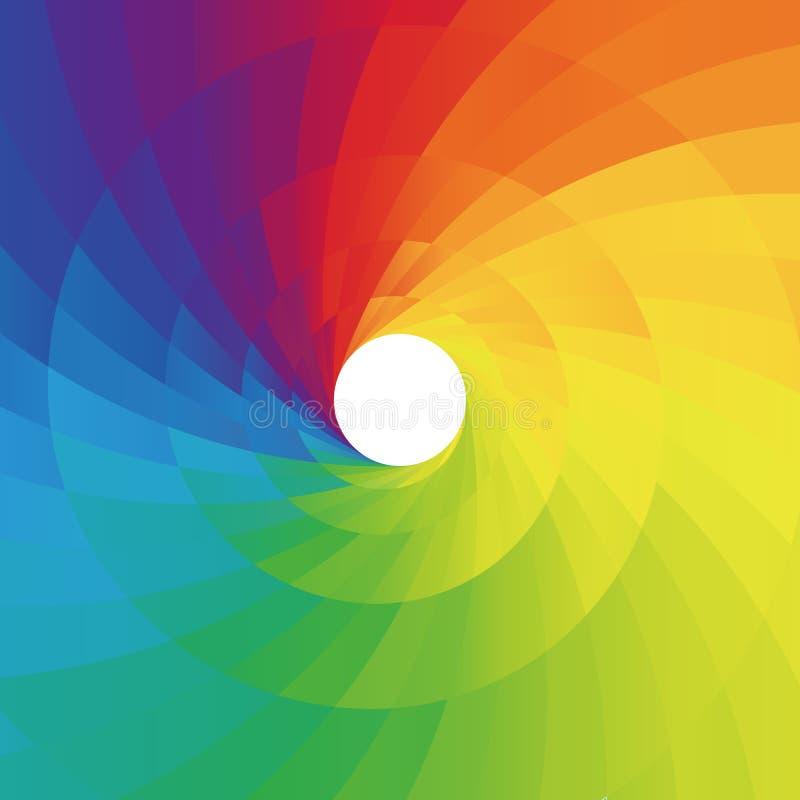 Абстрактная цветастая спиральн предпосылка иллюстрация вектора