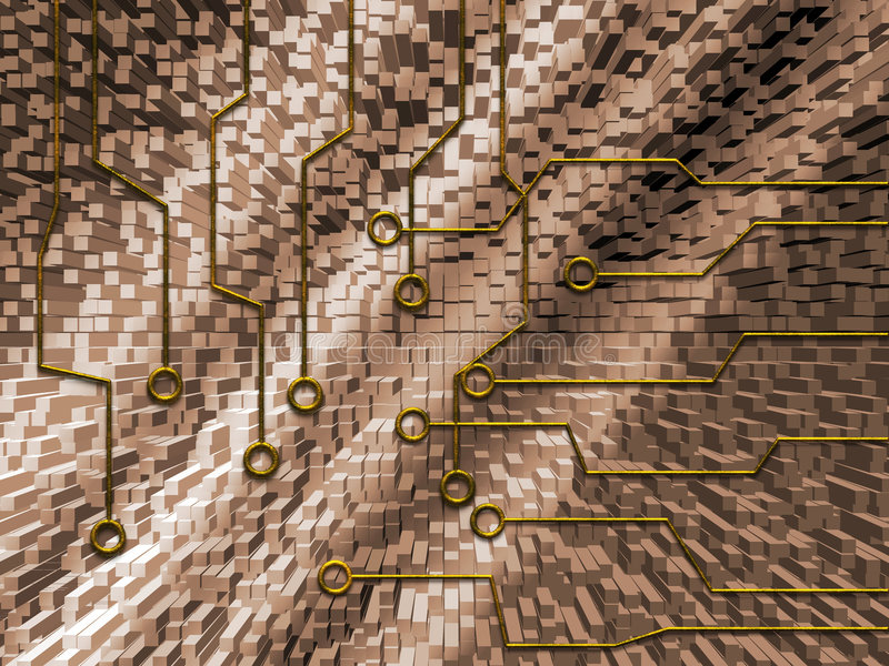 абстрактная цепь иллюстрация штока