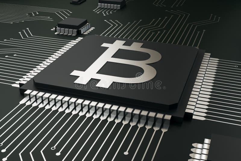 Абстрактная цепь bitcoin иллюстрация вектора