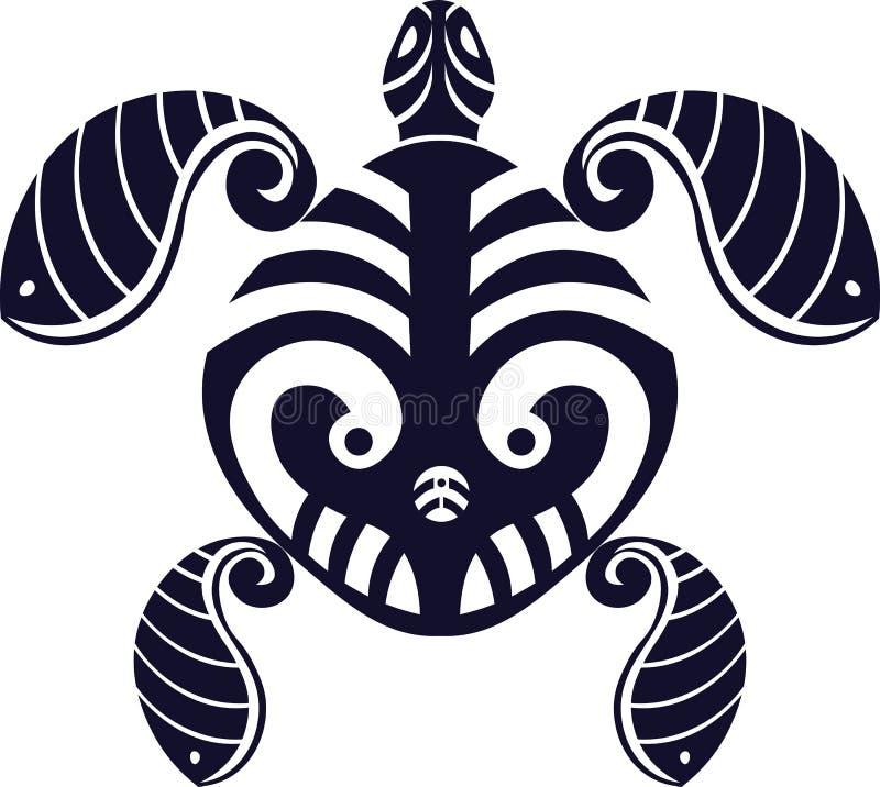 Абстрактная черепаха татуировки стоковое изображение