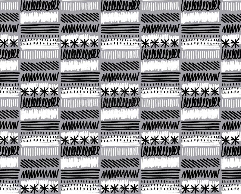 абстрактная черная белизна текстуры иллюстрации конструкции иллюстрация вектора