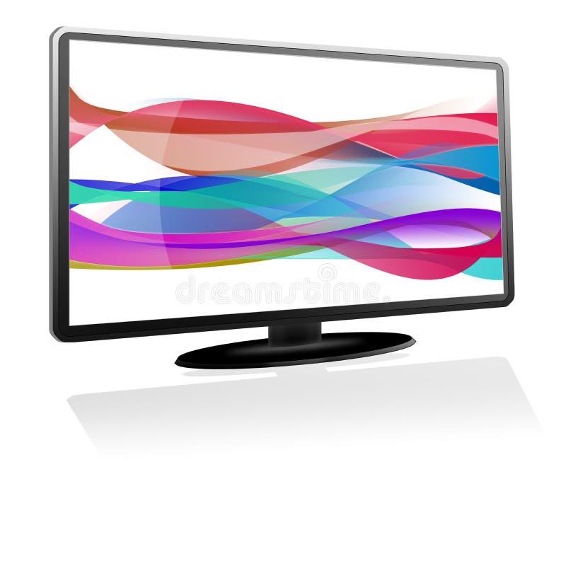 абстрактная черная волна монитора бесплатная иллюстрация