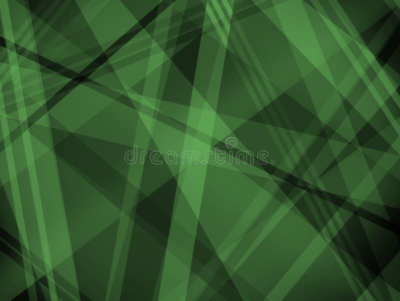 Абстрактная черная и зеленая предпосылка с раскосными слоями и формами нашивки бесплатная иллюстрация