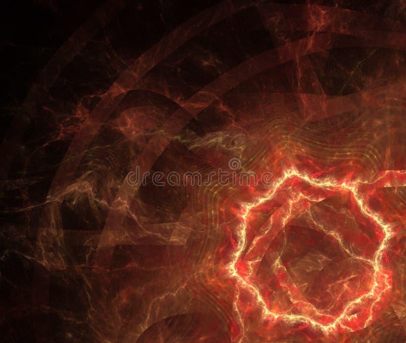 Абстрактная черная предпосылка с кругом огня или текстурой отверстия стоковые изображения