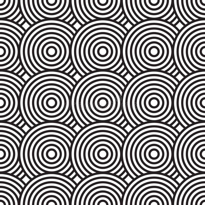 абстрактная чернота предпосылки объезжает белизну бесплатная иллюстрация