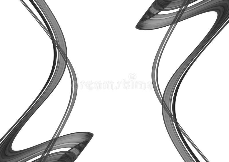 абстрактная чернота предпосылки 3d иллюстрация штока