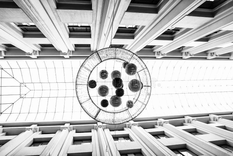Абстрактная черно-белая геометрическая картина стоковое фото rf