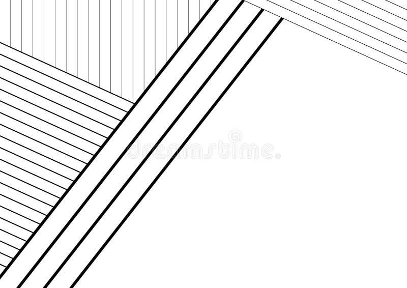 Абстрактная черно-белая предпосылка нашивки стоковые изображения
