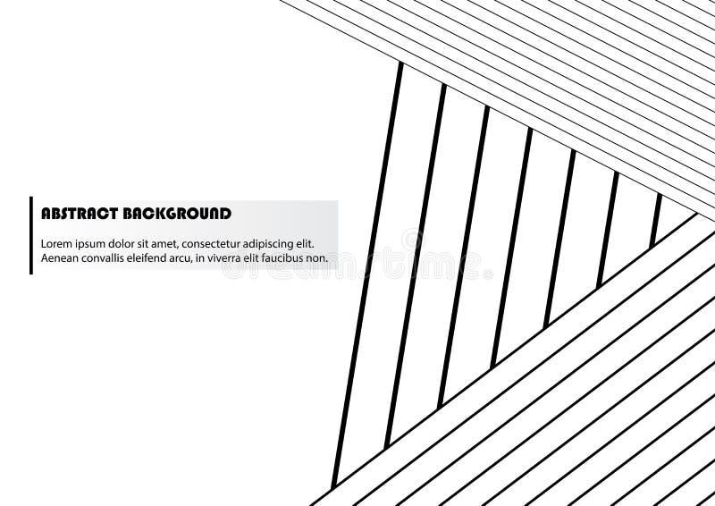 Абстрактная черно-белая предпосылка нашивки стоковое изображение rf
