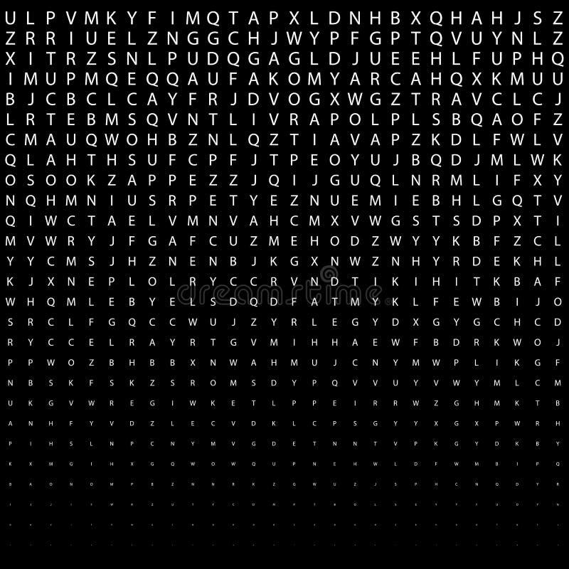 Абстрактная черно-белая картина полутонового изображения печати искусства deco с письмами иллюстрация вектора
