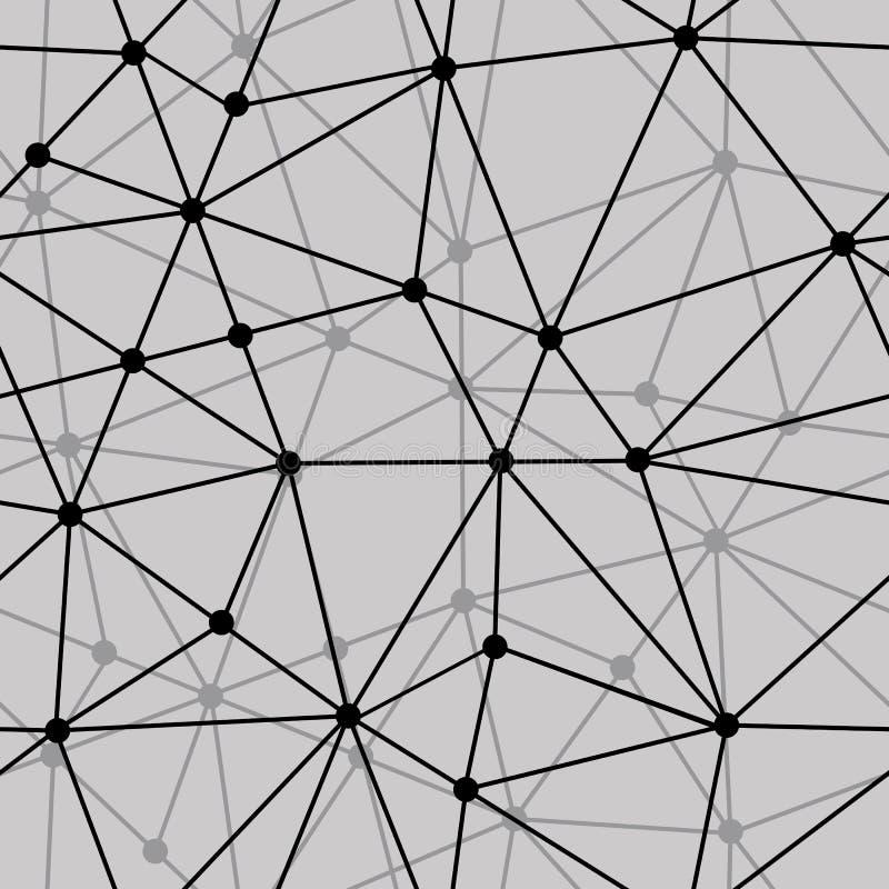 Абстрактная черно-белая сетчатая безшовная предпосылка иллюстрация штока
