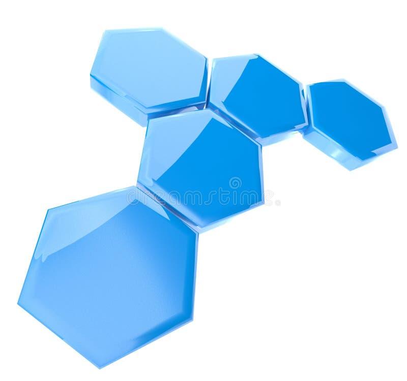 абстрактная шестиугольная икона 3d иллюстрация вектора