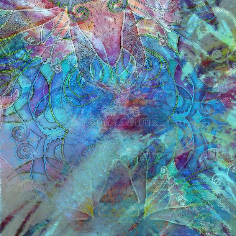 Абстрактная экзотическая предпосылка motley картины иллюстрация вектора