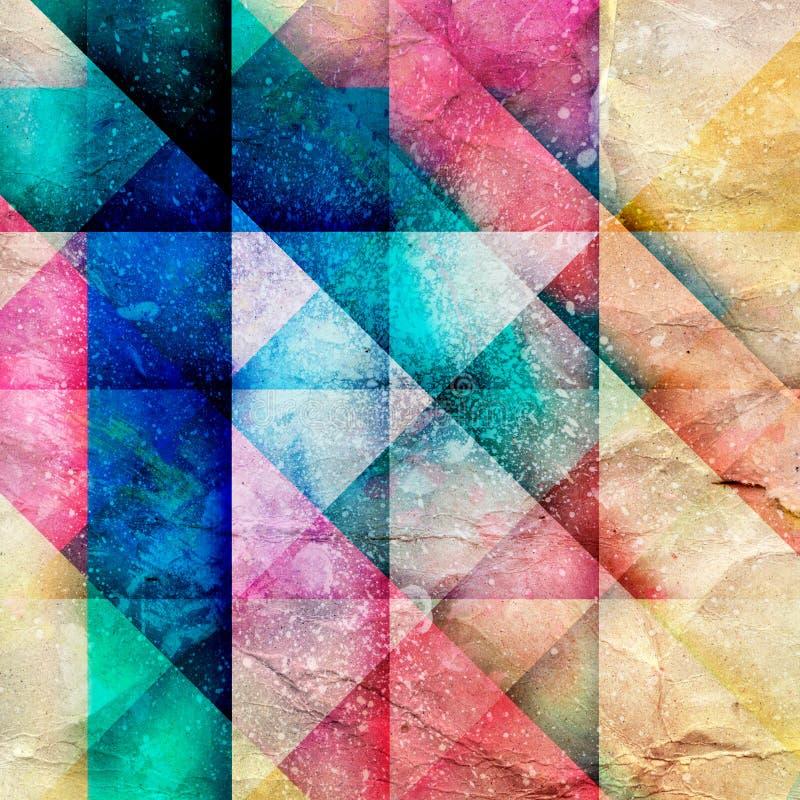 Абстрактная яркая геометрическая предпосылка иллюстрация штока