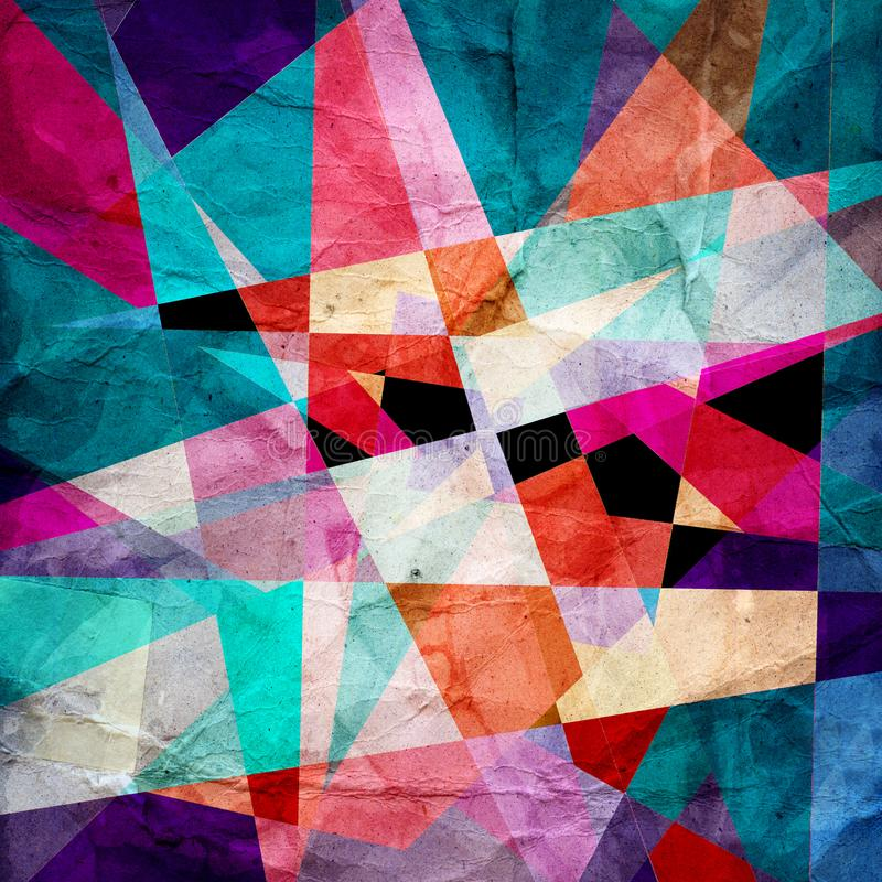 Абстрактная яркая геометрическая предпосылка иллюстрация вектора