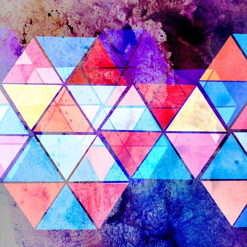 Абстрактная яркая геометрическая предпосылка бесплатная иллюстрация