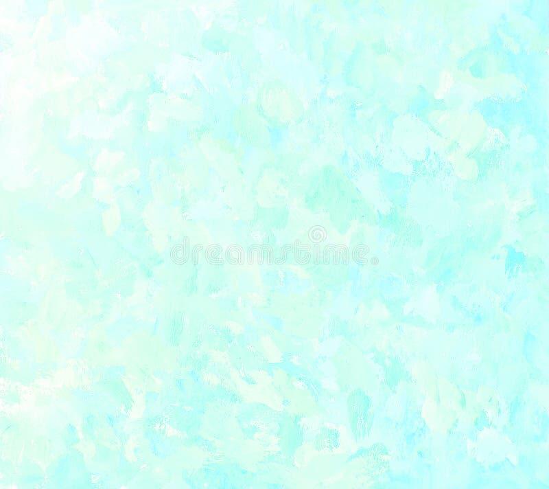 Абстрактная яркая голубая предпосылка картины brushstroke бесплатная иллюстрация