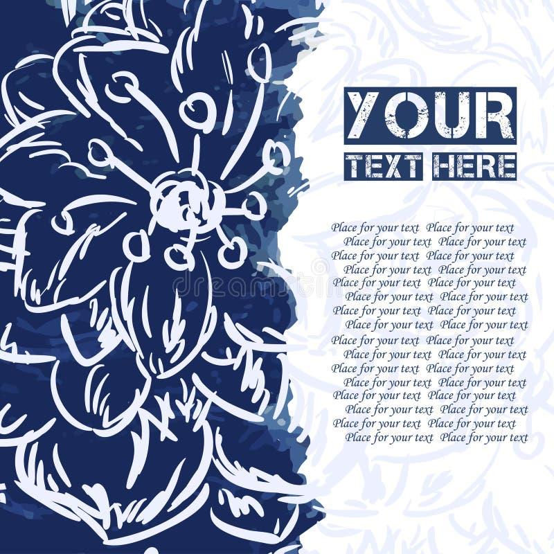 Абстрактная яркая помарка с цветком для вашего сообщения бесплатная иллюстрация
