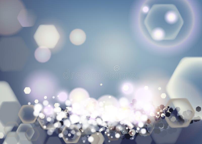 Абстрактная яркая предпосылка блеска со свободным местом для текста и объекта Красочная светлая полигональная предпосылка bokeh r бесплатная иллюстрация