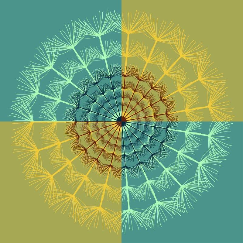 Абстрактная яркая предпосылка одуванчика бесплатная иллюстрация