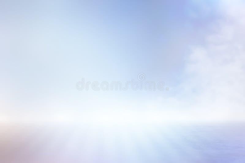 Абстрактная яркая сцена пола концентрата с туманом или туманом, фарой для дисплея стоковые фото