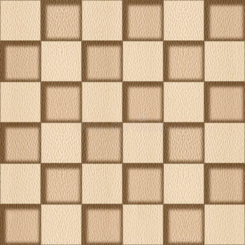 Абстрактная checkered картина - безшовная предпосылка - белый дуб иллюстрация штока
