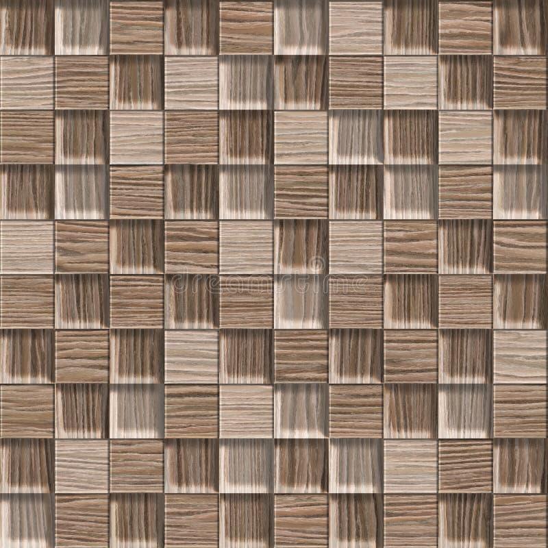 Абстрактная checkered картина - безшовная предпосылка - взорванный дуб иллюстрация вектора