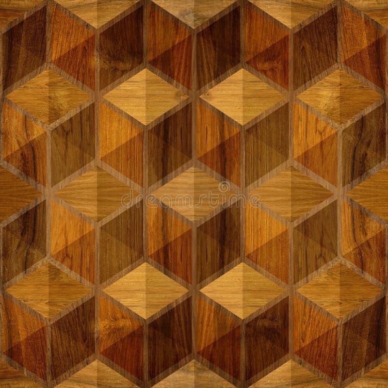 Абстрактная checkered картина - безшовная предпосылка - деревянная текстура бесплатная иллюстрация