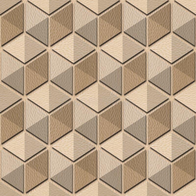 Абстрактная checkered картина - безшовная предпосылка, древесина белого дуба бесплатная иллюстрация