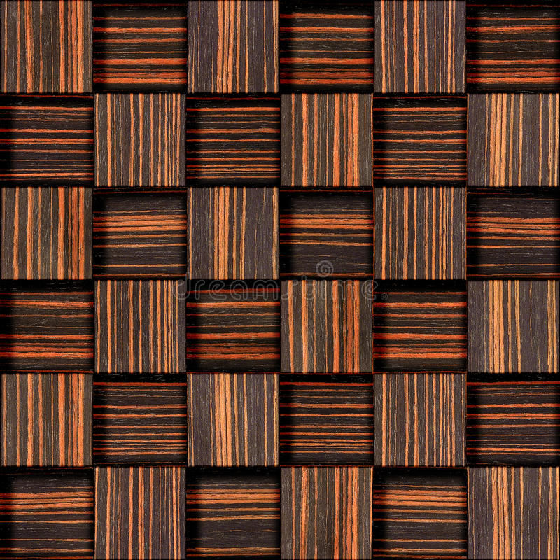 Абстрактная checkered картина - безшовная предпосылка - древесина чёрного дерева стоковые фото