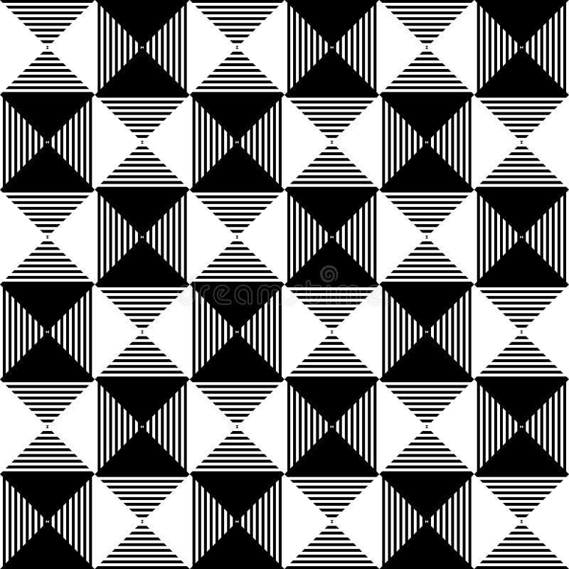 Абстрактная checkered картина мозаики иллюстрация вектора