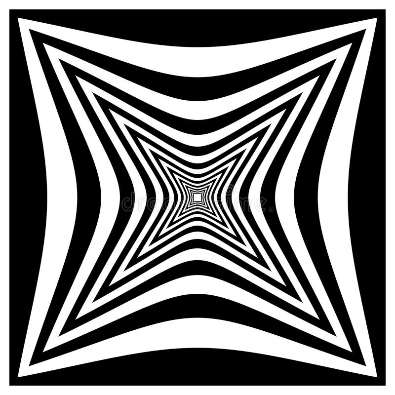 Download Абстрактная Contrasty передернутая форма Иллюстрация вектора - иллюстрации насчитывающей чередуя, черный: 81801415